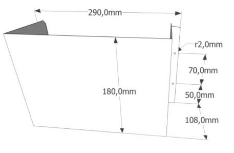 iScoop Shower wall mounted version dimensions